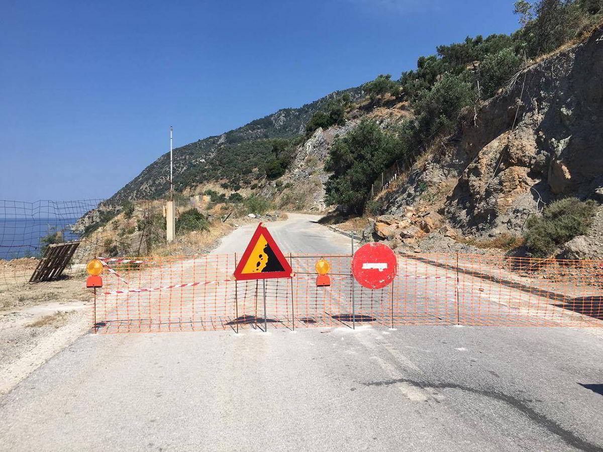Αποκατάσταση ζημιών στην επαρχιακή οδό Πλωμαρίου-Μελίντα