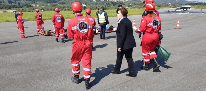 Με πρωτοβουλία της Περιφέρειας Βορείου Αιγαίου η άσκηση «ΑΛΚΑΙΟΣ Ι» στο αεροδρόμιο της Μυτιλήνης