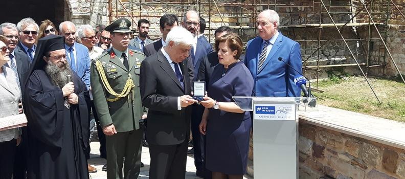 Την εκδήλωση της Περιφέρειας Βορείου Αιγαίου «Η Ευρώπη στην Περιοχή μου» στο Κάστρο της Χίου, τίμησε με την παρουσία του ο Πρόεδρος της Δημοκρατίας
