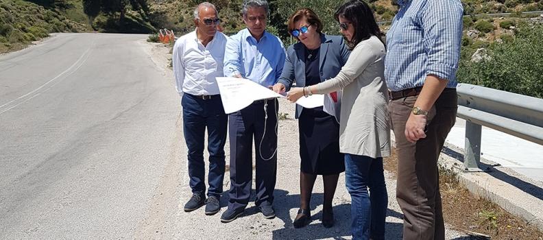 Έργα που πραγματοποιεί η Περιφέρεια Βορείου Αιγαίου στη Χίο επισκέφθηκε η Χριστιάνα Καλογήρου