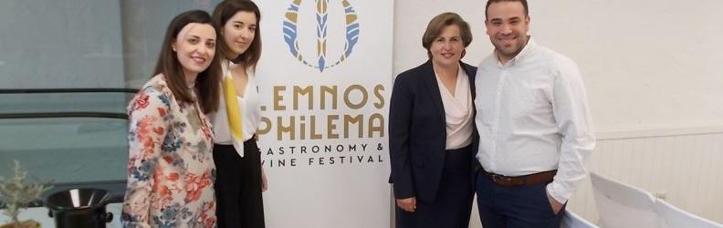 Η Περιφερειάρχης στην εκδήλωση παρουσίασης του Φεστιβάλ Γαστρονομίας και Οίνου «Meet Lemnos Philema»