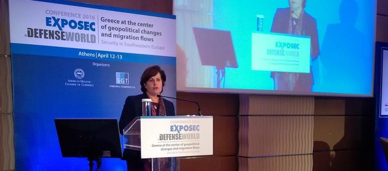 Ομιλία της Περιφερειάρχη στο συνέδριο του Ελληνο-Αμερικανικού Εμπορικού Επιμελητηρίου