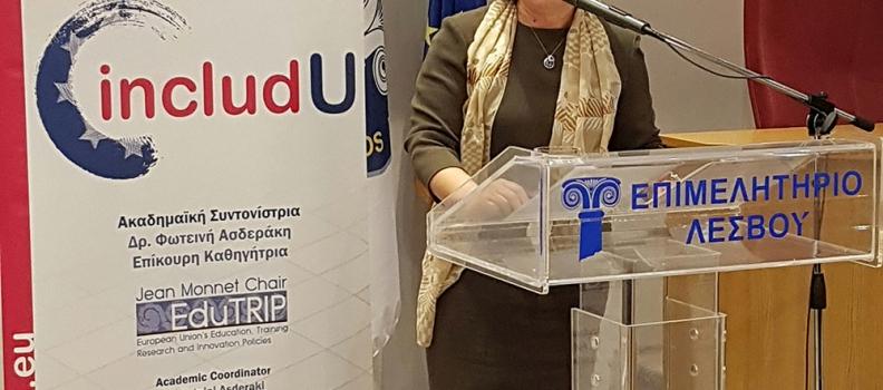 Ομιλία της Περιφερειάρχη για την ανάδειξη των ευρωπαϊκών αξιών από τους νέους