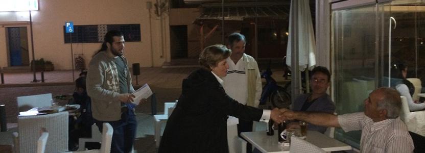 Περιοδεία της υποψήφιας Περιφερειάρχη Βορείου Αιγαίου Χριστιάνας Καλογήρου στη Λήμνο και την Ικαρία