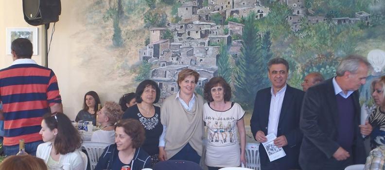 Περιοδεία της υποψήφιας Περιφερειάρχη Βορείου Αιγαίου Χριστιάνας Καλογήρου σε χωριά της Αμανής Χίου