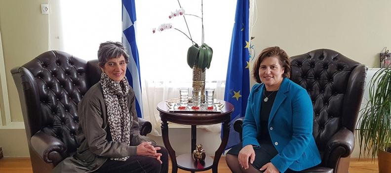 Συνάντηση της Περιφερειάρχη με την Πρέσβειρα της Μ. Βρετανίας στην Ελλάδα