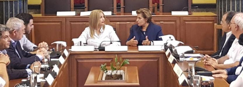 Συνάντηση της Περιφερειάρχη Βορείου Αιγαίου με την πρόεδρο του Κινήματος Αλλαγής