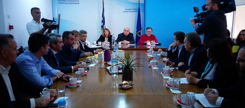 Θέσπιση μέτρων για την αντιμετώπιση του κύματος των μεταναστών πρότεινε η Χριστιάνα Καλογήρου κατά τη διάρκεια της συνάντησης των Περιφερειαρχών με την ηγεσία του Υπουργείου Εσωτερικών