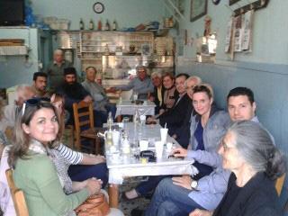 Επίσκεψη της Χριστιάνας Καλογήρου στη Μυτιλήνη