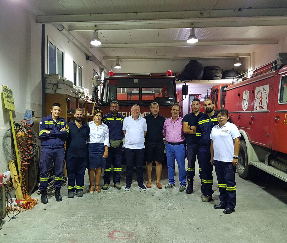 Συνάντηση της Περιφερειάρχη με ομάδα εθελοντών δασοπυροσβεστών στη Σάμο