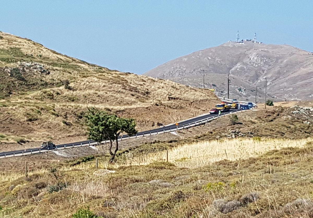 Συντήρηση Επαρχιακών Οδών της Λήμνου από την Περιφέρεια Βορείου Αιγαίου
