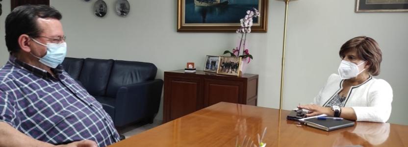 Συνάντηση με τον πρόεδρο της Εθνικής Ένωσης Αγροτικών Συνεταιρισμών
