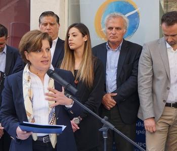 Αγιασμός εκλογικού κέντρου Χίου