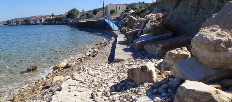 4,5 εκατ. ευρώ από το Ε.Π. της Περιφέρειας Βορείου Αιγαίου  για την αντιμετώπιση διαβρώσεων ακτών  στην Ερεσό και στη Χίο