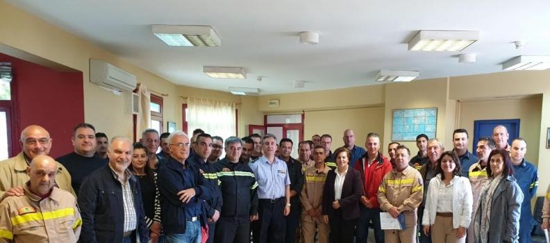 Επίσκεψη της Χριστιάνας Καλογήρου σε δημόσιες υπηρεσίες της Λέσβου