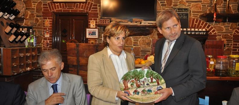Επίσκεψη του Επιτρόπου Johannes Hahn, αρμόδιου για την Ευρωπαϊκή Περιφερειακή Πολιτική, στη Λέσβο