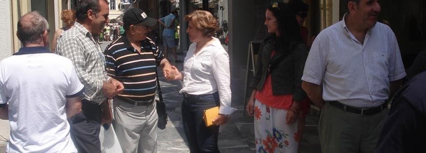 Επίσκεψη της Χριστιάνας Καλογήρου στη Σάμο