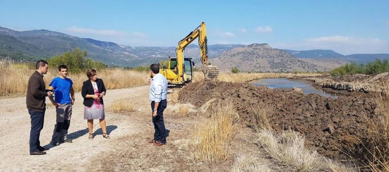 Σε έργα καθαρισμού χειμάρρων στην περιοχή  των Δημοτικών Ενοτήτων Ευεργέτουλα και Καλλονής  η Χριστιάνα Καλογήρου