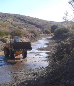 Συνεχίζονται οι εργασίες για την αποκατάσταση των ζημιών από τη θεομηνία και τον καθαρισμό χειμάρρων στη Λέσβο από την Περιφέρεια Βορείου Αιγαίου
