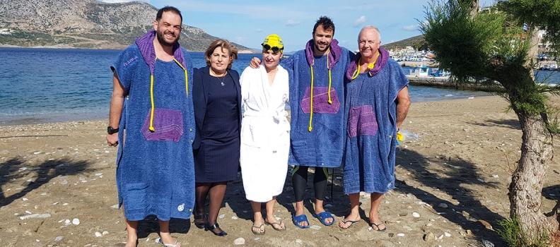 Κολυμπώντας από τον Άγιο Ευστράτιο στη Λήμνο