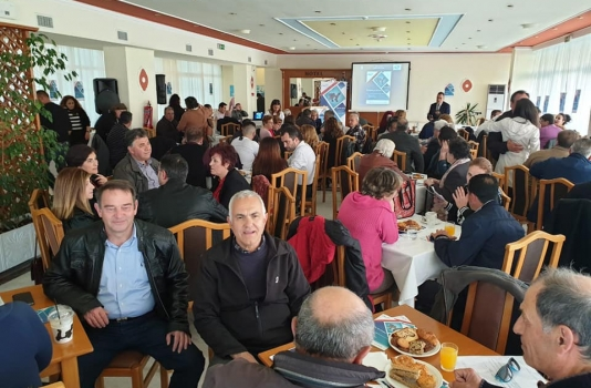 Η Λήμνος σε κίνηση - Η Χριστιάνα Καλογήρου σε εκδήλωση παρουσίασε τα έργα της Περιφέρειας Βορείου Αιγαίου στη Λήμνο