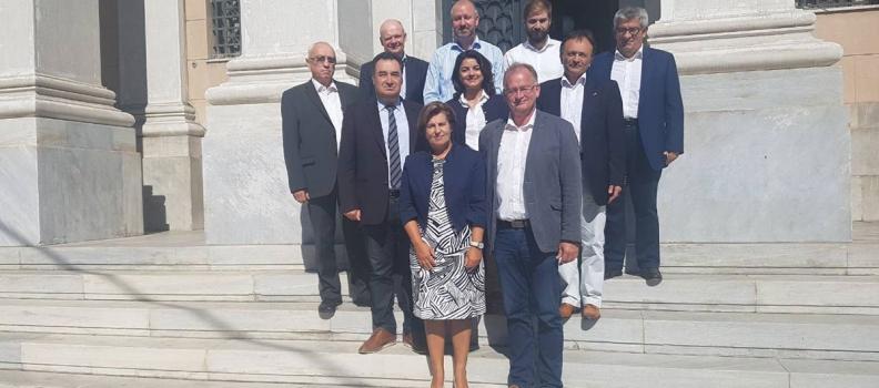 Η Περιφερειάρχης Βορείου Αιγαίου  και ο Έπαρχος Μεκλεμβούργου  συνεργάζονται σε θέματα εμπορίου, τουρισμού και κατάρτισης