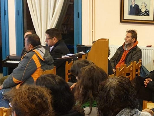 Ομιλία της Χριστιάνας Καλογήρου στην Ικαρία για το πρόγραμμα ΑΓΡΟ-ΤΑΥΤΟΤΗΤΑ