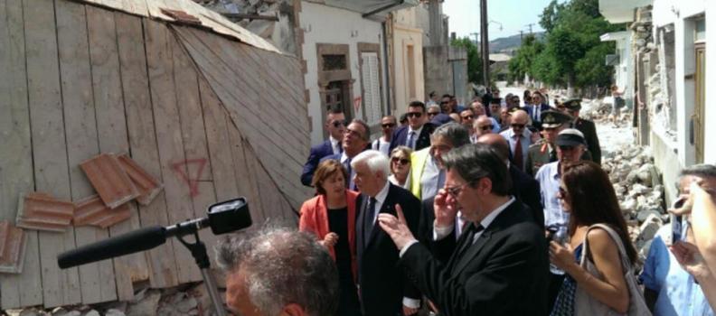 Η Περιφερειάρχης υποδέχεται τον Πρόεδρο της Δημοκρατίας στη Βρίσα
