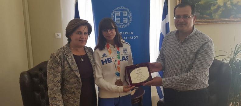 Συνάντηση της Περιφερειάρχη με την ολυμπιονίκη Όλγα Φιάσκα