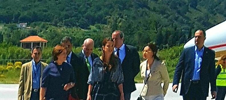 Η Περιφερειάρχης υποδέχθηκε τη βασίλισσα της Ιορδανίας στη Μυτιλήνη