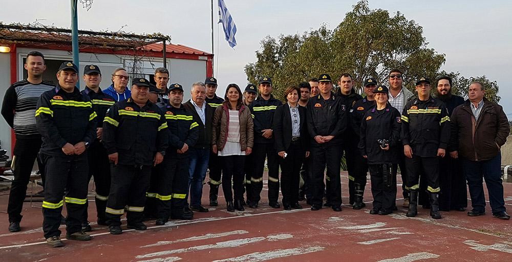 Τη σημασία του έργου των εθελοντών πυροσβεστών εξήρε η Περιφερειάρχης