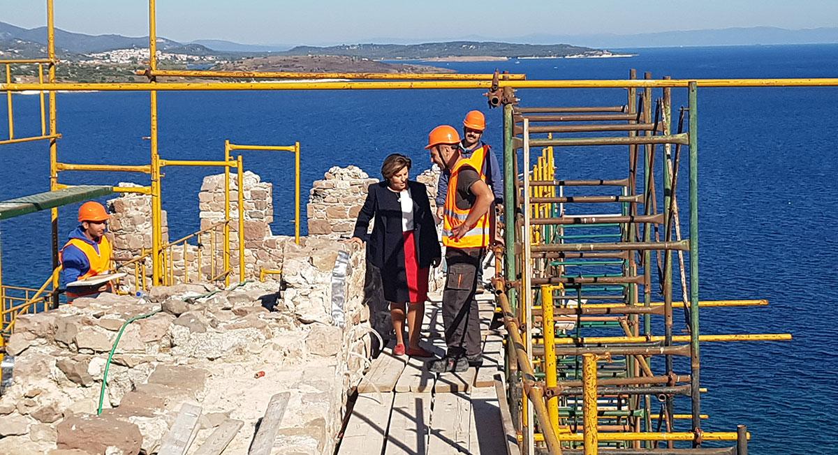 Χριστιάνα Καλογήρου: Επιπλέον 6 εκατομμύρια ευρώ για έργα πολιτισμού στα νησιά του Βορείου Αιγαίου